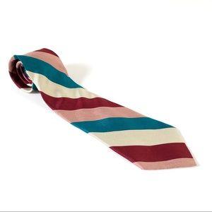 Vintage Yves Saint Lauren 100% Silk Striped Tie